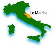 map of the Marche in Italy